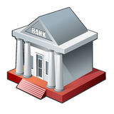 3d bank building icon isolated Stock Photography
