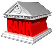 3D bank building. 3D bank building isolated on white background Stock Photography