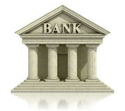 3d bank icon. 3d bank isolated on the white Stock Photo