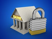 3d Bank Stock Photography