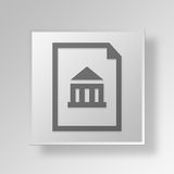 3D bank loan icon Business Concept. 3D Symbol Gray Square bank loan icon Business Concept Stock Photo