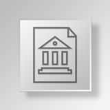 3D bank report icon Business Concept. 3D Symbol Gray Square bank report icon Business Concept Stock Photography