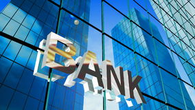 3d bank sign stock video