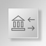 3D bank sync icon Business Concept Stock Photography