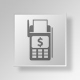 3D Bank Terminal icon Business Concept. 3D Symbol Gray Square Bank Terminal icon Business Concept Royalty Free Stock Photography