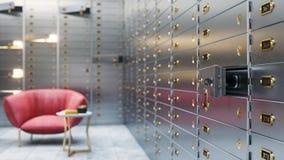 3d bank veilige opslag Royalty-vrije Stock Foto's