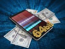3d bankbiljetten Stock Foto