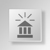 3D Banking Activity icon Business Concept Royalty Free Stock Photography