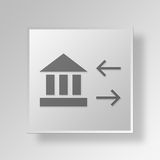3D Banking Activity icon Business Concept Stock Images