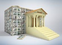 3D bankwezenconcept Royalty-vrije Stock Afbeeldingen