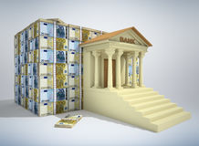 3D bankwezenconcept Stock Foto's