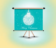 3d banner standing, christmas concept Stock Image
