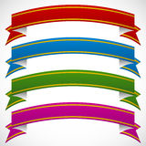 3d banners in 4 deep colors on white background Royalty Free Stock Photos
