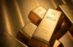 3d barów złota hq odpłaca się odpłacać się Fotografia Royalty Free