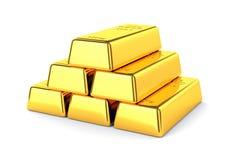 3d barów złota hq odpłaca się odpłacać się Obraz Royalty Free