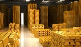 3d barów złota hq odpłaca się odpłacać się Royalty Ilustracja