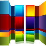 3d Bar Chart Callouts. An image of a 3d bar chart with callouts Stock Image