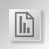 3D Bar Chart Document icon Business Concept. 3D Symbol Gray Square Bar Chart Document icon Business Concept Royalty Free Stock Images
