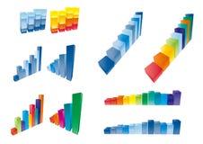 3d bar chart. Finance elemtns Royalty Free Stock Photos