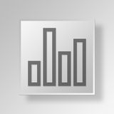 3D bar chart icon Business Concept Stock Image
