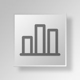 3D bar chart icon Business Concept Royalty Free Stock Photo