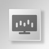 3D bar chart icon Business Concept Stock Photo