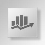 3D bar chart icon Business Concept Royalty Free Stock Images