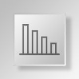 3D bar chart icon Business Concept Stock Images