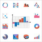 3D bar chart icon. Detailed set of Charts & Diagramms icons. Premium quality graphic design sign. One of the collection icons for. 3D bar chart icon. Detailed Royalty Free Stock Image