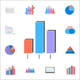 3D bar chart icon. Detailed set of Charts & Diagramms icons. Premium quality graphic design sign. One of the collection icons for. 3D bar chart icon. Detailed Stock Photo