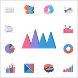 3D bar chart icon. Detailed set of Charts & Diagramms icons. Premium quality graphic design sign. One of the collection icons for. 3D bar chart icon. Detailed Royalty Free Stock Images