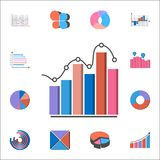 3D bar chart icon. Detailed set of Charts & Diagramms icons. Premium quality graphic design sign. One of the collection icons for. 3D bar chart icon. Detailed Royalty Free Stock Photos
