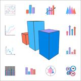 3D bar chart icon. Detailed set of Charts & Diagramms icons. Premium quality graphic design sign. One of the collection icons for. 3D bar chart icon. Detailed Stock Images