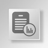 3D bar chart Reports icon Business Concept. 3D Symbol Gray Square bar chart Reports icon Business Concept Stock Images