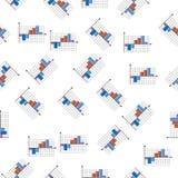 3D bar charticon in patroonstijl Één van Grafieken & Diagramms-het inzamelingspictogram kunnen voor UI, UX worden gebruikt Royalty-vrije Illustratie