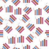 3D bar charticon in patroonstijl Één van Grafieken & Diagramms-het inzamelingspictogram kunnen voor UI, UX worden gebruikt Stock Illustratie