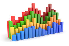3D Bar Charts Stock Photo