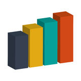 3d bar graph. Colored bar graph 3d  illustration flat style design Royalty Free Stock Images