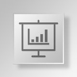 3D bar graph presentation icon Business Concept. 3D Symbol Gray Square bar graph presentation icon Business Concept Royalty Free Stock Image