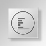 3D barchart icon Business Concept Royalty Free Stock Photography