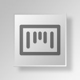 3D Barcode icon Business Concept. 3D Symbol Gray Square Barcode icon Business Concept Royalty Free Stock Photo