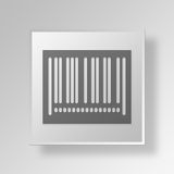 3D Barcode icon Business Concept. 3D Symbol Gray Square Barcode icon Business Concept Stock Photos