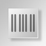 3D Barcode icon Business Concept. 3D Symbol Gray Square Barcode icon Business Concept Stock Photo