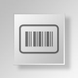 3D barcode sticker icon Business Concept. 3D Symbol Gray Square barcode sticker icon Business Concept Royalty Free Stock Photos