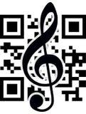 2D Barcode und Violinschlüssel Stockbilder