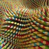 3d barwioni ołówki, abstrakcjonistyczna cyfrowa ilustracja Zdjęcia Royalty Free