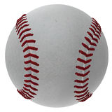 3D Baseball Ball. Digitally rendered illustration of a baseball ball on white background Stock Photography