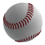 3D Baseball Ball. Digitally rendered illustration of a baseball ball on white background Royalty Free Stock Images