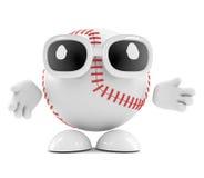 3d Baseball character. 3d render of a baseball character Stock Image