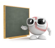 3d Baseball discusses tactics Stock Photo